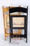 黒いカラー木の折る党椅子