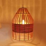 食堂のためのa&Lの自然で物質的な木のペンダント灯