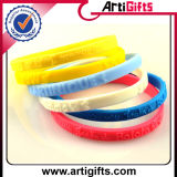 Wristband colorido Eco-Friendly do silicone com presentes