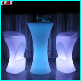 Outdoor Polyethelene LED Furniture Iluminado LED Lighting Table Chair