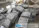Pièces de rechange élevées de concasseur de pierres de chrome de plaque de doublure de haute performance