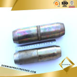 15.24m m Single Hole Prestressed Anchor Coupler para Prestressed Concrete