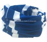 I prodotti del fornitore della Cina hanno personalizzato la sciarpa giallo cuoio tubolare del collo multifunzionale del pattino di sport del poliestere stampata marchio