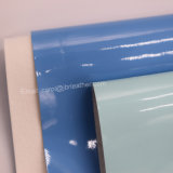 Da impressão de superfície da patente do espelho couro sintético do plutônio, couro de sapata