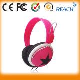Écouteur coloré d'écouteur d'étoile de bonne qualité d'écouteur de modèle stéréo de mélange