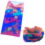 Le logo personnalisé élastique de Microfiber de polyester fait sur commande a estampé l'écharpe de couleur chamois de Bandana de sports multifonctionnels