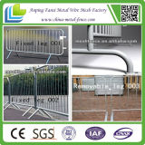 Strada Safety Galvanized Steel Mobile Barrier con Wheels