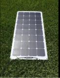 Kundenspezifischer Sunpower halb flexibler Sonnenkollektor 50W 100W 150W für kampierendes Auto Marine-RV-Wohnwagen