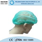 Wegwerfdoktor Cap mit Gummiband mit Cer, ISO 13485