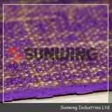 Stuoia di gomma viola all'ingrosso di yoga del TPE della tela di Sunwing
