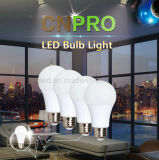 La mejor venta de 7W / 9W / 12W bombillas LED E27 E14 B22 Base de la lámpara