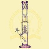 Stocks en verre de cendrier de métier de modèle de Handblown de Borosilicate de qualité de tube de percolateur de cuvette grande animale droite neuve de couleur pour le pépin en verre de l'eau