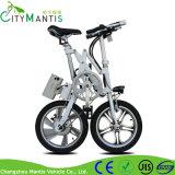 Bicicleta elétrica da dobradura pequena do frame da liga de 16 polegadas