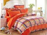 Beddegoed van de Vacht van Flannal van de Polyester van 100% het Zachte Comfortabele die met de Katoenen Decoratie van de Stof wordt geplaatst