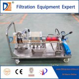 Máquina manual móvel da imprensa de filtro da membrana do funcionamento