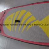 Горячий пинк с Surfboard Sup EVA-Пусковой площадки рыб доской затвора раздувного раговорного жанра