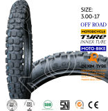 Motorrad zerteilt Motorrad-Motorrad-Reifen-Motorrad-Gummireifen weg von Straßen-Zähnen 3.00-17
