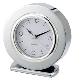 Profesional silencioso del reloj de alarma del metal redondo para el hotel