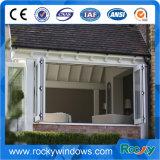 Preis-Aluminiumakkordeon Bi-Fold Windows mit einzelnem glasiert
