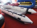 barca di 14.1FT 4.3m, peschereccio gonfiabile, nave di soccorso, barca di velocità, piccola barca poco costosa con il pavimento dell'alluminio e del motore esterno o il pavimento del compensato, o il pavimento della piattaforma dell'aria