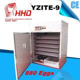 自動調節計が付いているHhd 880の鶏の卵の定温器