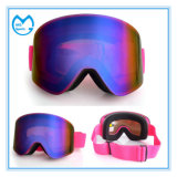 ピンクのパソコンレンズの反影響の安全ガラスのスキー用マスクのゴーグル
