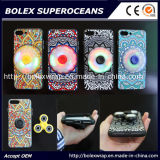 Shell móvil de Hot~~~iPhone con el hilandero del dedo, caja del juguete de la persona agitada del hilandero de la mano 2 in-1