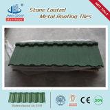 Unti-Se descolora la hoja revestida de piedra coloreada del material para techos, azulejos de material para techos del metal del azulejo de la ripia