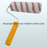 Cinza & Red Stripe Paint Roller com Handle