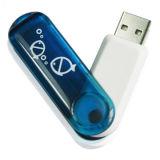 플라스틱 32GB 회전대 USB 펜 드라이브 (PZS004)