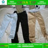 Chinesische verwendete Form-Dame-Baumwollhose-Korea-Art im Ballen-Export nach Afrika