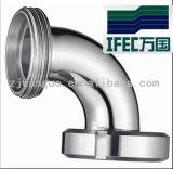 Coude sanitaire de 90 degrés avec l'union (IFEC-SE100001)