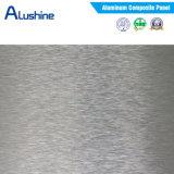 Painel composto de alumínio da escova de prata (3mm e 4mm)