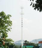 Selbsttragender einzelner Pole-Telekommunikations-Stahlaufsatz
