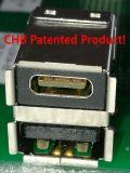 18 weiblicher Verbinder Pin-USB3.0 der doppelten Plattform rechtwinklig