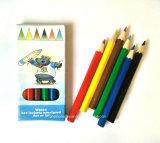 6PCS ponen en cortocircuito los lápices del color para la promoción pila de discos en 4c la impresión Paperbox