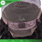 Cabelo natural cheio do brasileiro do 1b da cor do cabelo humano da peruca do laço