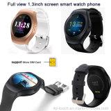 Pantalla Ronda de Bluetooth del teléfono móvil del reloj con ranura para tarjeta SIM (KS2)