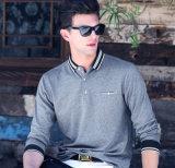 Chemise de polo 100%Cotton bleue de vente de mode chaude d'hommes