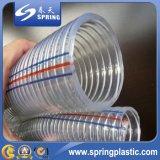 Mangueira reforçada do PVC trovão transparente