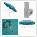9FT Faser-Glas-Sonnenschirm mit Kurbel-Garten Sonnenschirm-Patio-Regenschirm-im Freienregenschirm