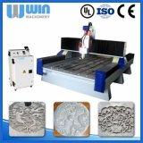 Máquina de cinzeladura de pedra do CNC da gravura de vidro mini com preço de fábrica