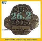 Insignia con plateado bronce antiguo 2