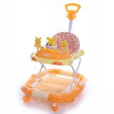 Leurder van de Baby van de Auto van het Stuk speelgoed van de Duw van de baby de Plastic met de Staaf van de Duw