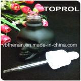черная бутылка E-Жидкости матированного стекла черепа 30ml с Childproof крышкой и тонкой капельницей