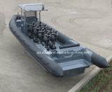 China Aqualand 8feet-36feet 2.5m-11m de fibra de vidrio casco rígido inflable barco de rescate / costilla motor barco / patrulla militar barco / barco de buceo (RIB1050B)