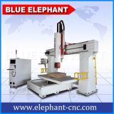 Machine de gravure du bois du couteau 3D de commande numérique par ordinateur de l'axe Ele1224-5