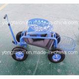 円形のバスケットが付いている庭のトラクターScoot