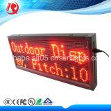 2016 o brilho elevado ao ar livre P10 vermelho Waterproof o indicador de diodo emissor de luz