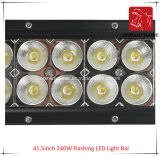 도로 빛과 LED 모는 빛 떨어져 SUV 차 LED를 위해 방수 41.5inch 240W 번쩍이는 LED 표시등 막대의 LED 차 빛